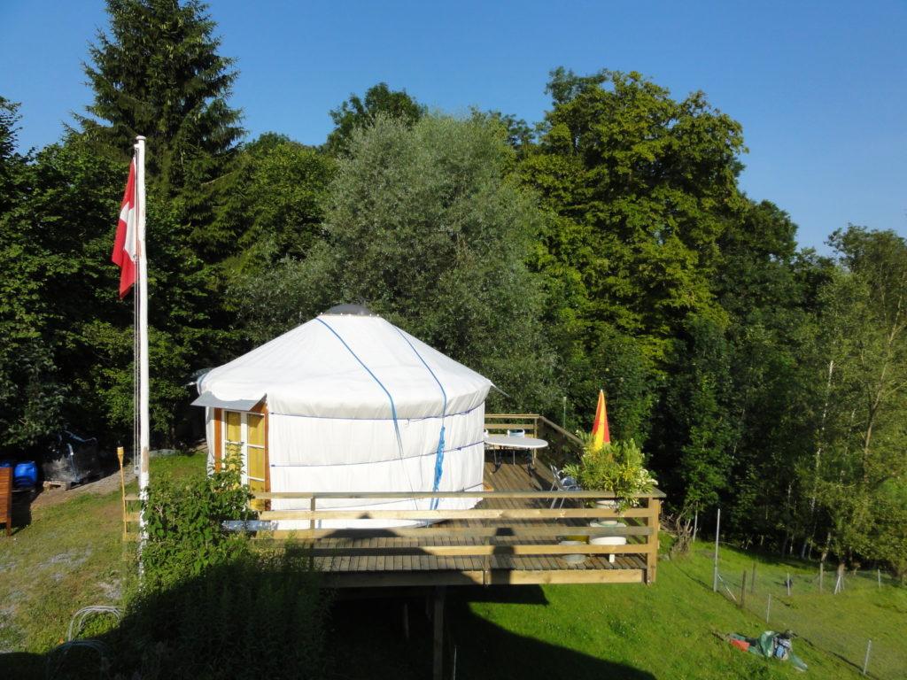 Swissyurt above